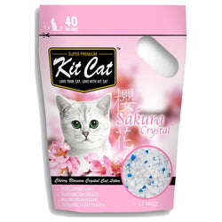 Kit Cat Crystal Sakura Cat Litter 5L - Push Pets Singapore