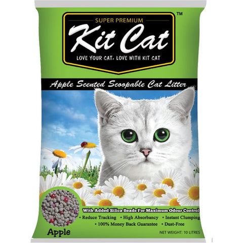 Kit Cat Apple Scented Cat Litter 10L - Push Pets Singapore