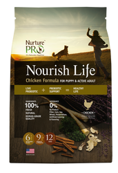 Nurture Pro Nourish Life Chicken Formula Puppy & Adult Dry Dog Food - Push Pets Singapore