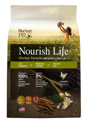 Nurture Pro Nourish Life Chicken Formula Kitten & Adult Dry Cat Food - Push Pets Singapore
