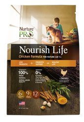 Nurture Pro Nourish Life Chicken Formula Mature 7+ Dry Cat Food - Push Pets Singapore