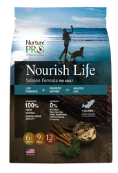 Nurture Pro Nourish Life Salmon Formula Adult Dry Dog Food - Push Pets Singapore