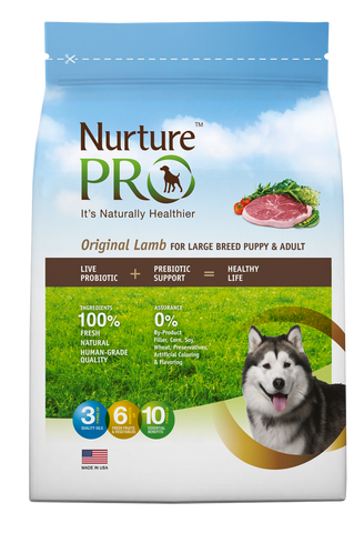 Nuture Pro Original Lamb Large Breed Puppy & Adult Dry Dog Food - Push Pets Singapore