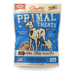 Primal Freeze-Dried Pork Liver Munchies - Push Pets Singapore