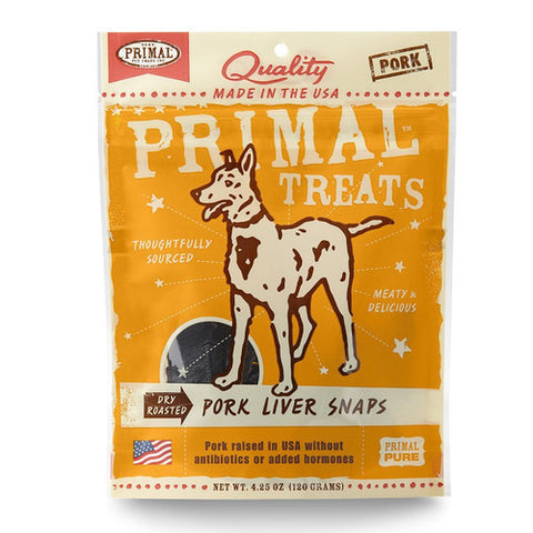 Primal Dry Roasted Pork Liver Snaps for Dogs - Push Pets Singapore