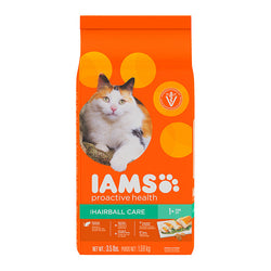 Iams ProActive Health Adult Hairball Care Dry Cat Food, 2.55kg - Push Pets Singapore