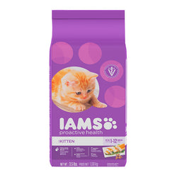 Iams ProActive Health Kitten Dry Cat Food, 2.55kg - Push Pets Singapore