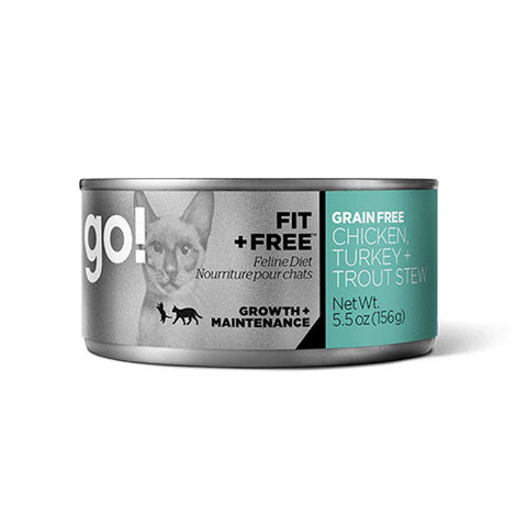 Petcurean Go! Fit + Free Chicken, Turkey & Trout Pate Canned Cat Food - Push Pets Singapore