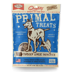 Primal Freeze-Dried Turkey Liver Munchies - Push Pets Singapore