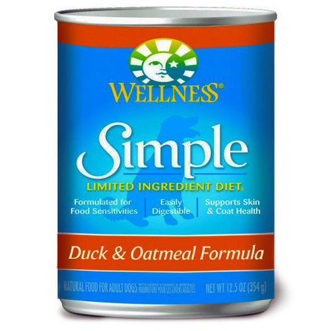 Wellness Simple Duck & Oatmeal Canned Dog Food - Push Pets Singapore