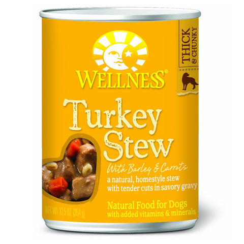 Wellness Turkey Stew with Barley & Carrots Canned Dog Food - Push Pets Singapore
