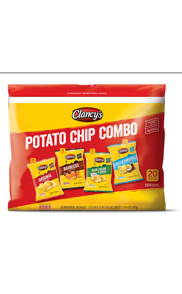 CLANCY'S POTATO CHIP COMBO (20PCK)
