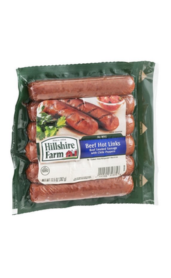 HILLSHIRE FARM BEEF HOT LINKS SAUSAGE