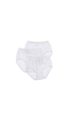 100% COTTON SOLID BRIEF PANTY 2PK