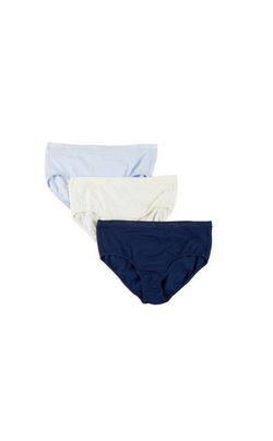LADIES 100% COTTON COMFORT FIT SOLID 3PK