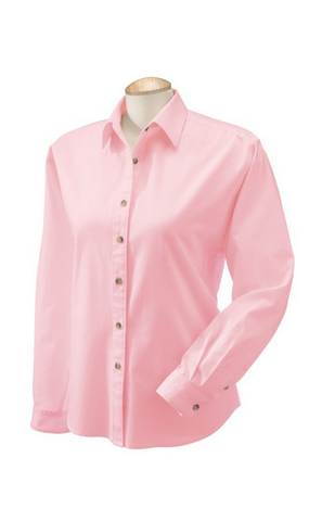 COTTON TWILL BUTTON FRONT SHIRT