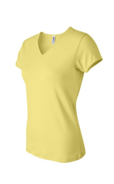 WOMEN'S BABY RIB SHORT-SLEEVE V-NECK $14.99