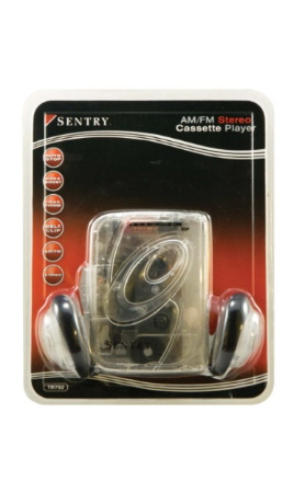 Sentry Transparent AM/FM Cassette Player $29.99