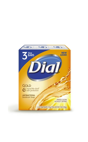 DIAL GOLD ORIGINAL BAR SOAP 4OZ 3 BARS