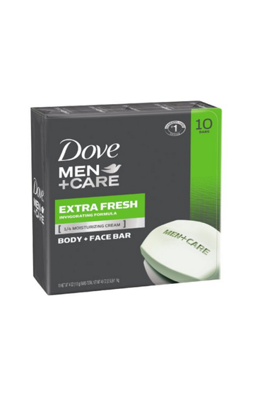 DOVE MEN+CARE BODY & FACE BAR 4OZ, 8 BARS