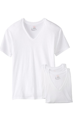 Hanes Men's 3-Pack V-Neck T-Shirt |NYS Inmate Packages