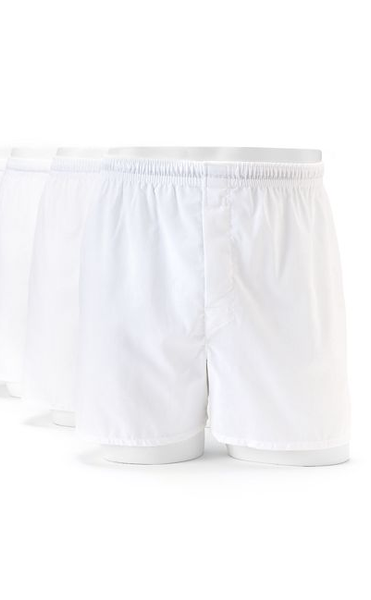 Hanes 436B Men's TAGLESS Full-Cut Boxer with Comfort Flex Waistband 3-Pk