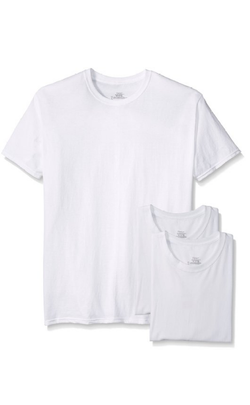Hanes Men's 3-Pk Crew Neck T-Shirt