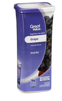 Great Value: Grape Drink Mix, 1.9 Oz