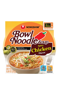 Nongshim Spicy Chicken Noodle Soup, 3.03 oz, 12ct
