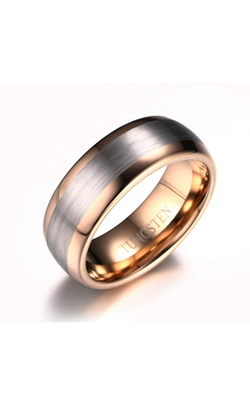 8mm Men's Tungsten Wedding Band 18k Rose Gold Plated