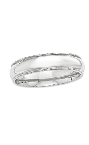 Men's 7.0mm Comfort Fit Milgrain Band in Sterling Silver