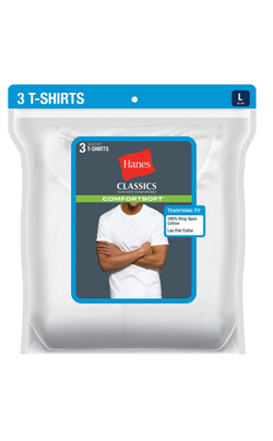 Hanes Men's 3 Pk Big & Tall Crew Neck