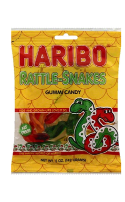 Haribo Rattle Snakes Candy, 5oz