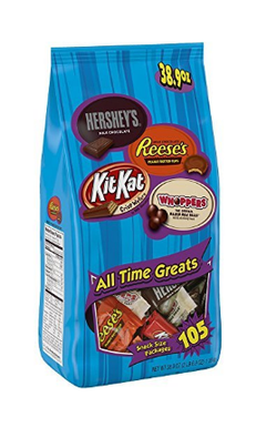 Hershey's All-Time Greats Snack-Size Assortment 105pcs