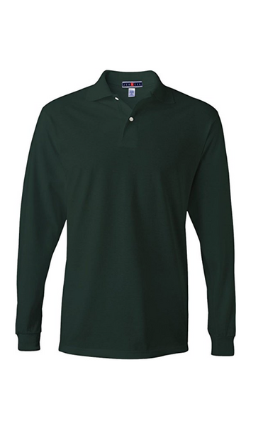 Jerzees Men's Jersey Long Sleeve Polo