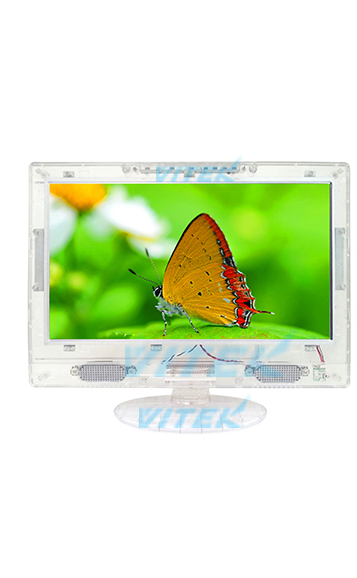 CLEAR TECH 13 LED FLAT SCREEN COLOR TV-CLEAR W/REMOTE