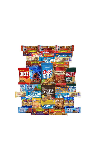 CHIPS, PRETZELS, TREATS VALUE PACK (40)