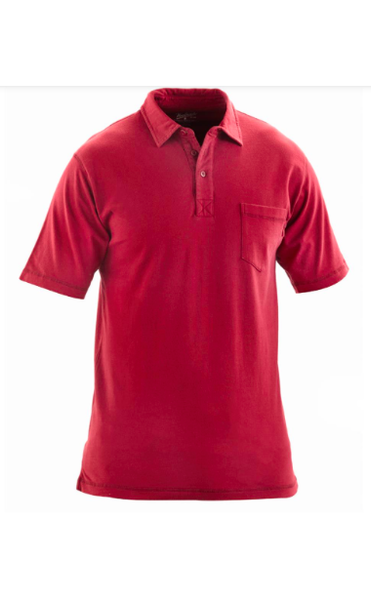 MEN'S COTTON BLEND POLO SIDE POCKET