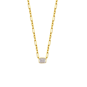 Asscher Cut Chain Necklace