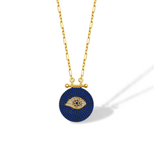 Load image into Gallery viewer, Evil Eye Medallion Necklace