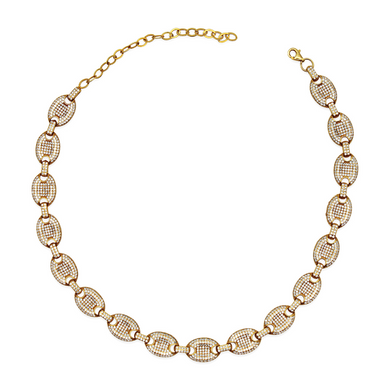 Pavé Mariner Link Necklace