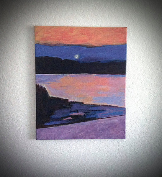 Summer's End in the Hudson River Valley Original Abstract Seascape Painting by Will Wieber
