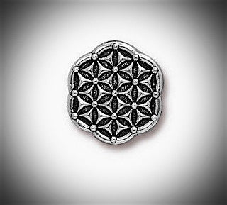 Silver Flower of Life Lapel Pin Sacred Geometry Pin Seed of Life Lapel Pin Gold, Copper & Silver Groomsmen Seeds of Life Lapel Pin