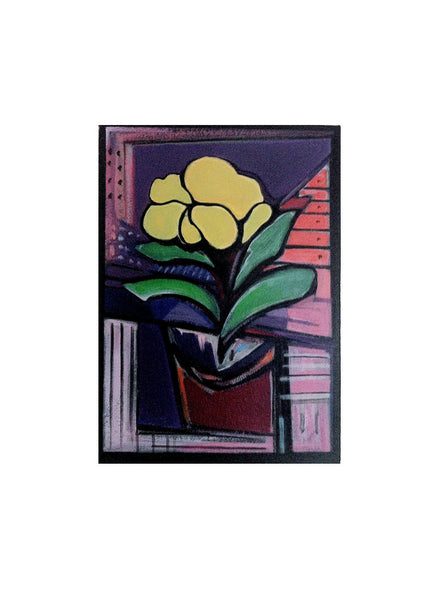 Yellow Flower Painting, Home Decor Art, Impressionist Floral Painting, Wall Hanging Yellow Bedroom Wall Decor Bathroom Wall Art, Still Life - GracieWieber - 1