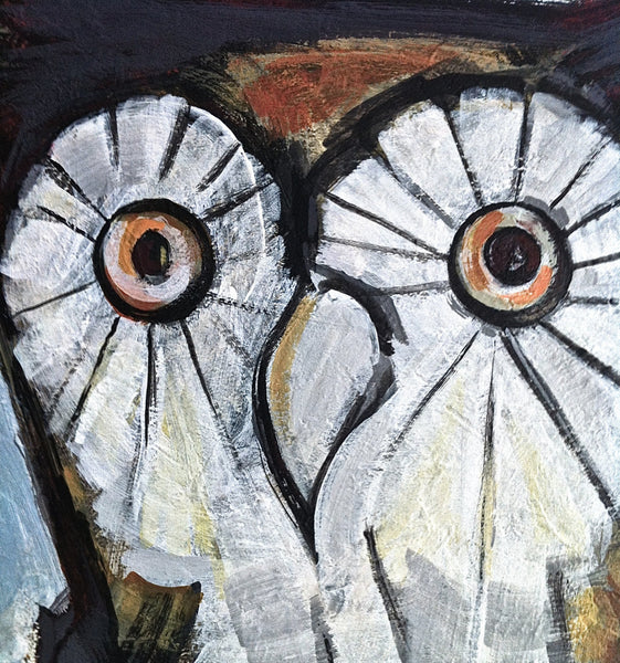 Owl Painting, Bird Wildlife Painting, Owl Art, Hoot Owl Portrait, Nature Home Decor Painting by Will Wieber - GracieWieber - 2