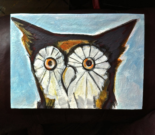 Owl Painting, Bird Wildlife Painting, Owl Art, Hoot Owl Portrait, Nature Home Decor Painting by Will Wieber - GracieWieber - 3