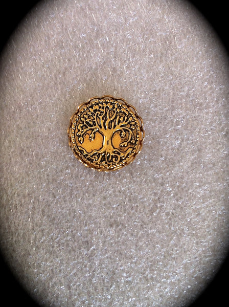 Tree of Life Lapel Pin, Mens Gold Tie Tack, Celtic Jewelry Unisex Accessory Irish Jewelry Groomsmen Gift - GracieWieber - 1