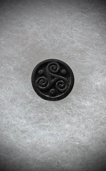 Triskelion Lapel Pin Celtic Jewelry Black Triskele Tie Tack Irish Jewelry Lapel Pin Celtic Lapel Pin GOT Jewelry - GracieWieber - 4