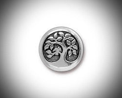 Silver Tree of Life Lapel Pin, Mens Tie Tack Celtic Jewelry Irish Jewelry Groomsmen Gift Unisex Bohemian Bridal Celtic Jewelry - GracieWieber - 1