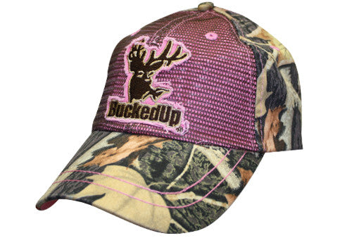 Camo-Pink Mesh Screen Hat